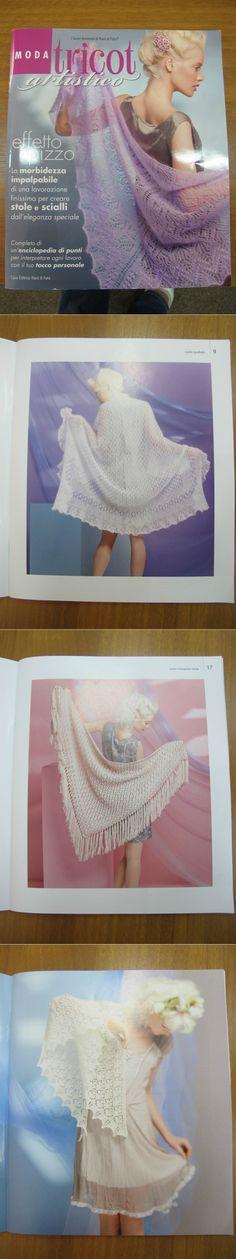 Альбом«Moda Tricot artistico. Mani di Fata». Шали, узоры.