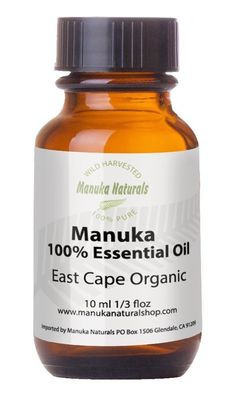 Amazon.com: Manuka Oil 100% Pure East Cape Natural Anti-Fungal & Antiseptic, 10 ml(0.3 oz)-10x Stronger Than Tea Tree Oil-Wild Harvested Organic-Rare Aromatherapy Oil-Fights Acne, Foot Fungus, Skin Conditions -Insect Bite Remedy-Natures Medicine Cabinet In a Bottle!: Health & Personal Care