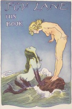 This bookplate was published as part of a book produced by Norman Lindsay's good friend Frederick Claude Vivian Lane.  In 1944, Lane produced a book of Norman Lindsay's book plates and this particular bookplate featuring the mermaid is the most famous.
