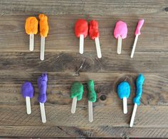 Matching Popsicle Colors Play Dough by SortingSprinkles, via Flickr