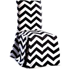 Update your home decor with the modern chevron print on cotton long dining chair slipcovers. Durable construction makes this slipcover perfect for everyday use, this long dining chair cover has pleated corners and a bowtie to keep the cover in place.