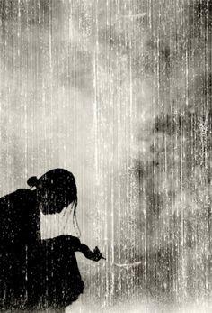 Geisha in the rain. Japan.༺ ♠ ༻*ŦƶȠ*༺ ♠ ༻  JAPAN