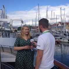 Josefine Temrell, talesperson LUF vågar delta i debatten i #Almedalen. Här intervju hos #Fortum. #våga