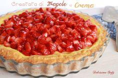 Crostata di Fragole e Crema,ricetta - Dolcissima Stefy