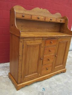 antique dry sinks photos | English Antique Dry Sink Cabinet Cupboard Sideboard Antique Furniture