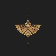 Sacred geometry butterfly, symbol icon Black and gold geometric composition desi. Motifs Art Nouveau, Motif Art Deco, Art Deco Tattoo, Petit Tattoo, Handpoke Tattoo, Kunst Tattoos, Brainstorm, Grafik Design, Geometric Art