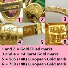 Vintage Jewelry Marks for Gold Purity - Great to know for gold lovers! #MyClassicJewlery