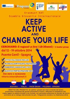 12th-19th Oct 2014 - Puente Genil, Spain. Keep Active and Change Your Life. Youth Exchange