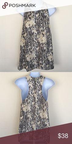 Joie Silk Tank Leopard print Joie silk tank, shades of grey & tan.  Excellent condition.  Smoke free, pet free home Joie Tops