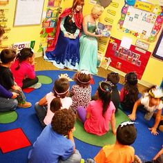 Story time at a pre school