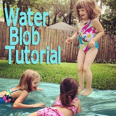 "We had so much fun with this last year! A fun summertime activity for kids: #DIY ""water blob"""