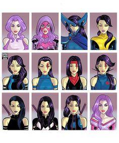 Psylocke Through The Ages - Marvel Universe Marvel Xmen, Marvel Art, Marvel Cinematic, Xmen Apocalypse, Mundo Comic, Psylocke, Marvel Girls, Comics Universe, Cultura Pop