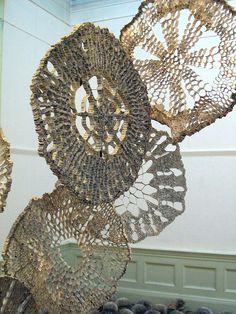 Pores for Thought by British artist Julie Dodd Cardboard Art, 3d Studio, Book Sculpture, Patterns In Nature, Recycled Art, Land Art, Textile Art, Paper Cutting, Fiber Art
