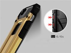 For iPhone 6 Case / iPhone 6S Case Slim Fit Dual Layer Hard Back Cover Bumper Protective Shock-Absorption & Skid-proof Anti-Scratch Case for Apple iPhone 6 / 6S 4.7 inch - US$4.39 Sales Online gold&black - Tomtop Smartwatch, Apple Technology, Iphone 6 Cases, Phone Case, 6s Plus Case, Layers Design, Mold Making, Apple Iphone 6, Protective Cases
