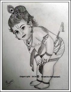 Preethi Venugopala: Kanhaiyya... A Pencil Sketch