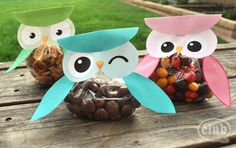 Make your own adorable owl treat bags from this  free printable. The bags are perfect for all kinds ofoccasionsfrom baby shower ...