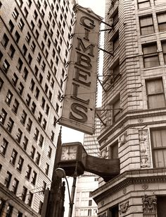 Gimbel's - Downtown Pittsburgh PA--I really, really miss Gimbels. And Hornes, and especially Kaufmann's!