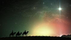 Church Media   Life Scribe Media   Christmas Nativity   Christmas play   wise men on camels   star   Worship Backgrounds   Design