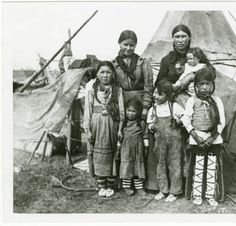 [Plains Cree family taken near Butte, 1906.] :: Photographs from the Montana Historical Society