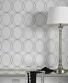 Graham Brown Darcy Pearl Geometric Wallpaper - great for a modern bedroom White And Silver Wallpaper, Pearl Wallpaper, White Wallpaper, Geometric Wallpaper, Bedroom Wallpaper, Wallpaper Ideas, Wallpaper Roll, Feature Wallpaper, Wallpaper Patterns