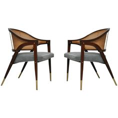 Pair of Armchairs by Edward Wormley for Dunbar | From a unique collection of antique and modern armchairs at https://www.1stdibs.com/furniture/seating/armchairs/