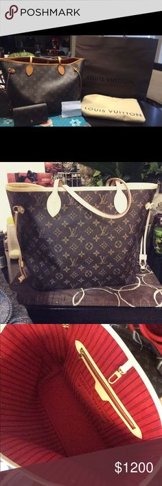 Louis Vuitton Monogram Neverfull MM ❤Neverfull MM ❤ ✨✨✨$900✨✨✨ 💁🏻Made in 🇫🇷 France😍 🍒🍒Cherry colored interior🍒🍒 🔥Neverfull MM Date Code- SR4154🔥  Purchase through google wallet or 🅿️🅿️ for $900 ⭐️⭐️Comes with dust bag & bag when purchased⭐️⭐️ Louis Vuitton Bags Shoulder Bags
