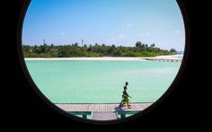 View from the second floor of our loft in the Maldives.