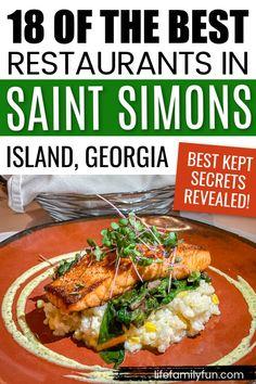 St Simons Island Restaurants, Jekyll Island Restaurants, Great Restaurants, St Simons Island Georgia, Georgia Islands, Beautiful Places In Usa, Savannah Chat, Savannah Georgia, Seafood Restaurant