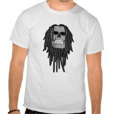Dreadlocks Tees. Skull with dreadlocks