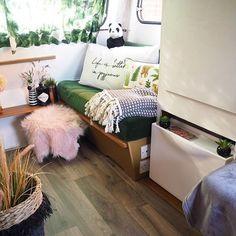 Mona Monza Caravan (@mona_monzacaravan) • Instagram photos and videos Caravan Makeover, Bench, Photo And Video, Storage, Videos, Photos, Furniture, Instagram, Home Decor