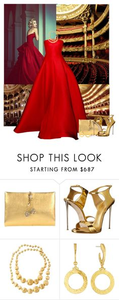 """Opera Gold"" by tayswift-1d ❤ liked on Polyvore featuring Roberto Cavalli, Giuseppe Zanotti, Marco Bicego and Gurhan"