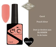 Eén van de nieuwe kleuren van Evo by Bio Sculpture: Carol. Een peachkleur die je doet denken aan de bloesem in de lente. Evo, Gel Nail Colors, Nail Colour, Bio Sculpture, Color Inspiration, Health And Beauty, Gel Nails, Lipstick, Colours