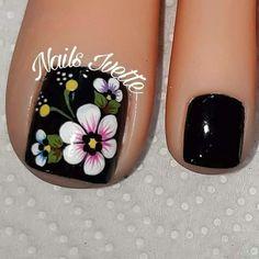 Cute Toe Nails, La Nails, Toe Nail Art, Toenail Art Designs, Acrylic Toes, Perfect Nails, Trendy Nails, How To Do Nails, Hair And Nails