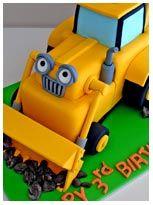 Scoop Birthday Cake, Bob The Builder Birthday Cake, Children Birthday Cakes, Digger Birthday Cake, Digger Cake, 3rd Birthday Cakes, Birthday Ideas, Bob The Builder Cake, Little Boy Cakes, Construction Birthday, Construction Cakes, Gateaux Cake