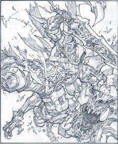Darksider by Joe Madureira Comic Book Pages, Comic Book Artists, Comic Artist, Comic Books Art, Joe Madureira, Dark Siders, Reference Manga, Comic Book Drawing, Comic Art Community