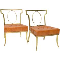 """William """"Billy"""" Haines Slipper Chairs   From a unique collection of antique and modern chairs at http://www.1stdibs.com/furniture/seating/chairs/"""