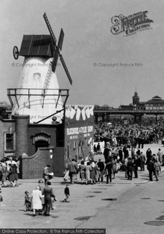 Photo of Windmill On The Promenade Part of The Francis Frith Collection of historic photographs of Britain. Did you know you can browse the archive online today for free? Your nostalgic journey has begun. Blackpool Promenade, Blackpool Beach, British Seaside, British Summer, First Color Photograph, Blackpool England, Nostalgic Images, The Old Days, Family Memories
