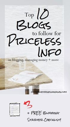 I've gathered together 10 different, amazing blogs that are jam-packed with a lot of incredibly useful information, and NOT just on blogging! Check them out for managing money, side hustles, and more! PLUS, now get your FREE Blogging Starter Checklist, and make sure to check out my Start a Blog page for more details on starting your own blog for FREE!