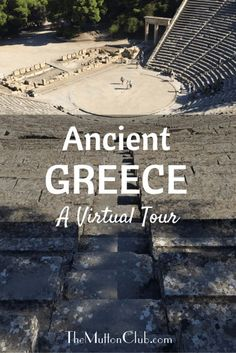 Enjoy a virtual tour of ancient Greece, the Parthenon, Delphi, Olympia and more. Then visit the beautiful Greek coast and islands. Virtual Travel, Virtual Tour, Virtual Field Trips, Olympia, Thinking Day, Ancient Greece, Ancient Egypt, Greece Travel, Walking Tour