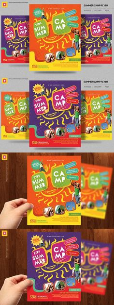 Kids Summer Camp Flyer Templates  Flyer Templates   Flyer