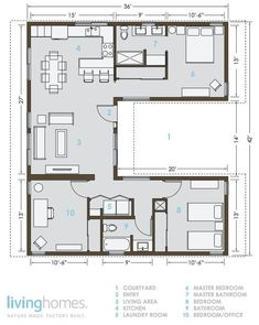 Container House LivingHomes and Make It Right Introduce Affordable Green Prefab : TreeHugger Who Else Wants Simple Step-By-Step Plans To Design And Build A Container Home From Scratch? The Plan, How To Plan, Small House Plans, House Floor Plans, Tiny Home Floor Plans, U Shaped House Plans, Casas Containers, Storage Containers, Storage Container Homes
