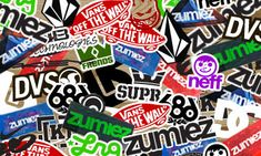 send a self-addressed, stamped envelope to zumiez and they will send it back full of stickers!
