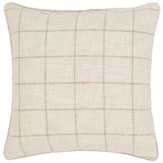 If you're mad for plaid, youll love this neutral indoor/outdoor pillow with…