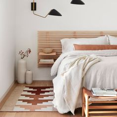 We partner with artisans to create modern goods for the well-traveled home. Dream Bedroom, Home Bedroom, Modern Bedroom, Bedroom Decor, Bedroom Ideas, Minimal Bedroom, Bedrooms, Earthy Bedroom, New Room