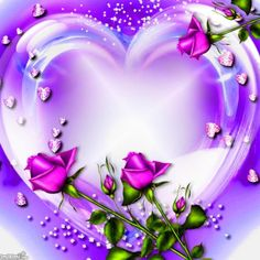 Montage photo missing you - Pixiz Beautiful Heart Images, Love You Images, Beautiful Roses, Beautiful Hearts, Heart Wallpaper, Love Wallpaper, Purple Love, All Things Purple, Heart Gif