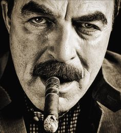 Tom Selleck - Cigar Smoker