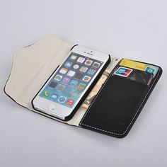 For iPhone 5 5S Luxury PU Leather Zipper Flower Buckle Style Stand Wallet Magnetic Flip Holster Hard Phone Cases Cover iPhone Covers Online