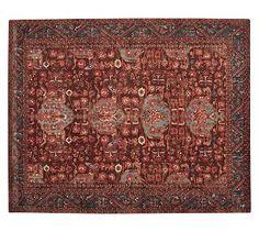 Option #3 rug - my favorite :) Aisha Printed Rug - Red #potterybarn
