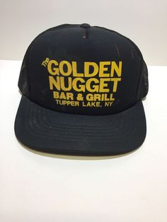 3438a22d554 Vintage Black Trucker Hat  fashion  clothing  shoes  accessories   mensaccessories  hats
