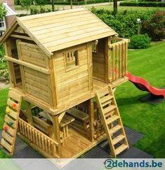 Speeltoestel speeltoren speeltuigen speeljuweel speelhuis - Te koop   2dehands.be